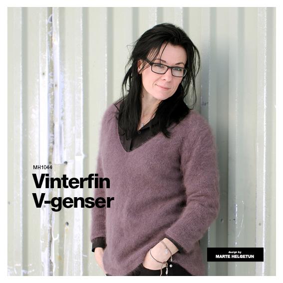 8306f106 Vinterfin v-genser - Dame - Oppskrifter og materialpakker - Design by Marte  Helgetun