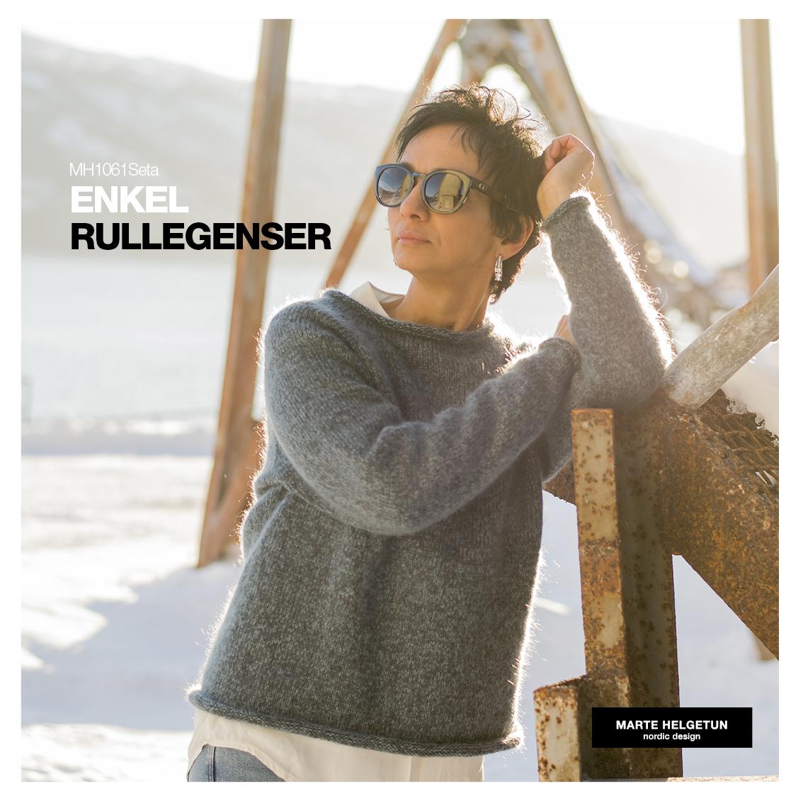 44ceea08 Enkel Rullegenser Seta - Dame - Oppskrifter og materialpakker - Design by  Marte Helgetun