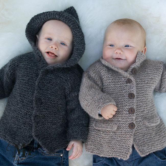 Rillestrikket jakke i Hexa Baby 0 1 år Oppskrifter og